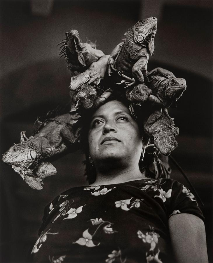 Our Lady of the Iguanas, Juchitán, México / Nuestra Señora de las Iguanas, 1979, by Graciela Iturbide