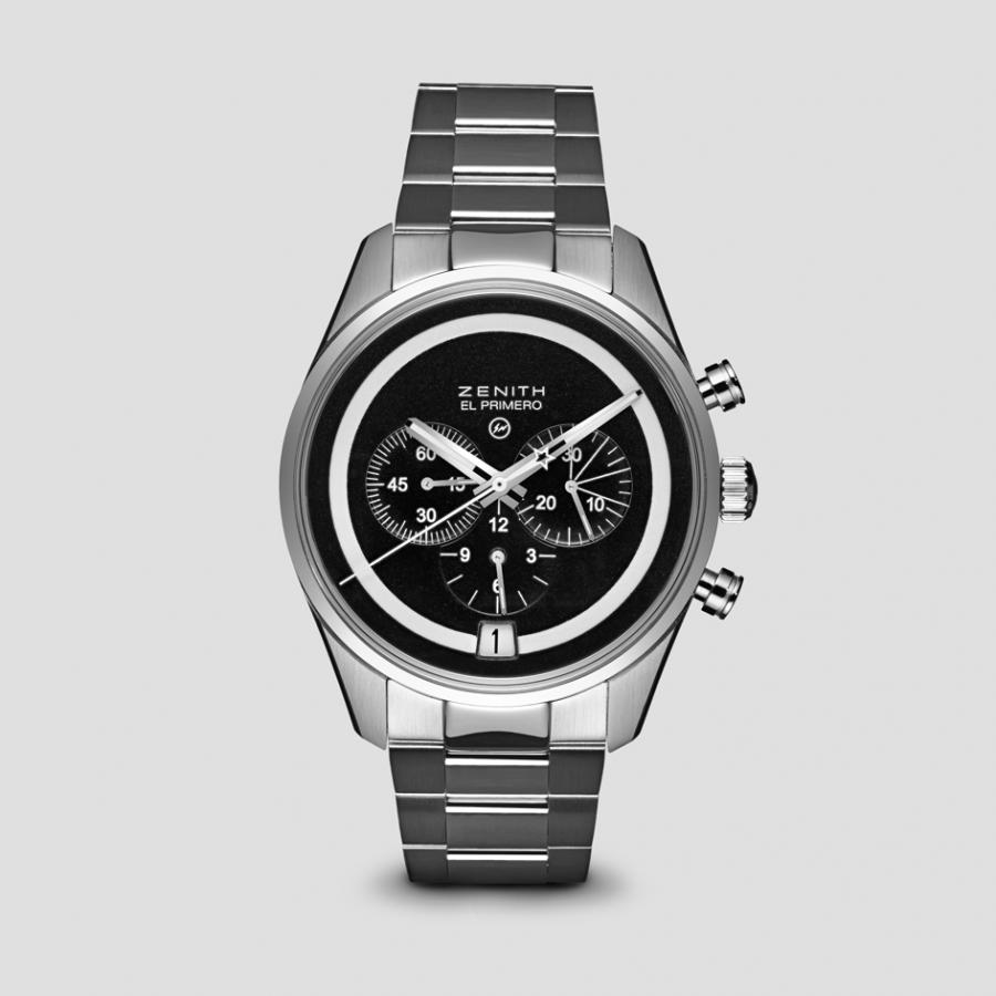 BWD x Fragment Zenith El Primero watch, available at Dover Street Market