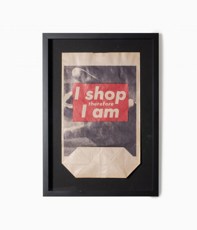 Barbara Kruger I shop therefore I am artwork