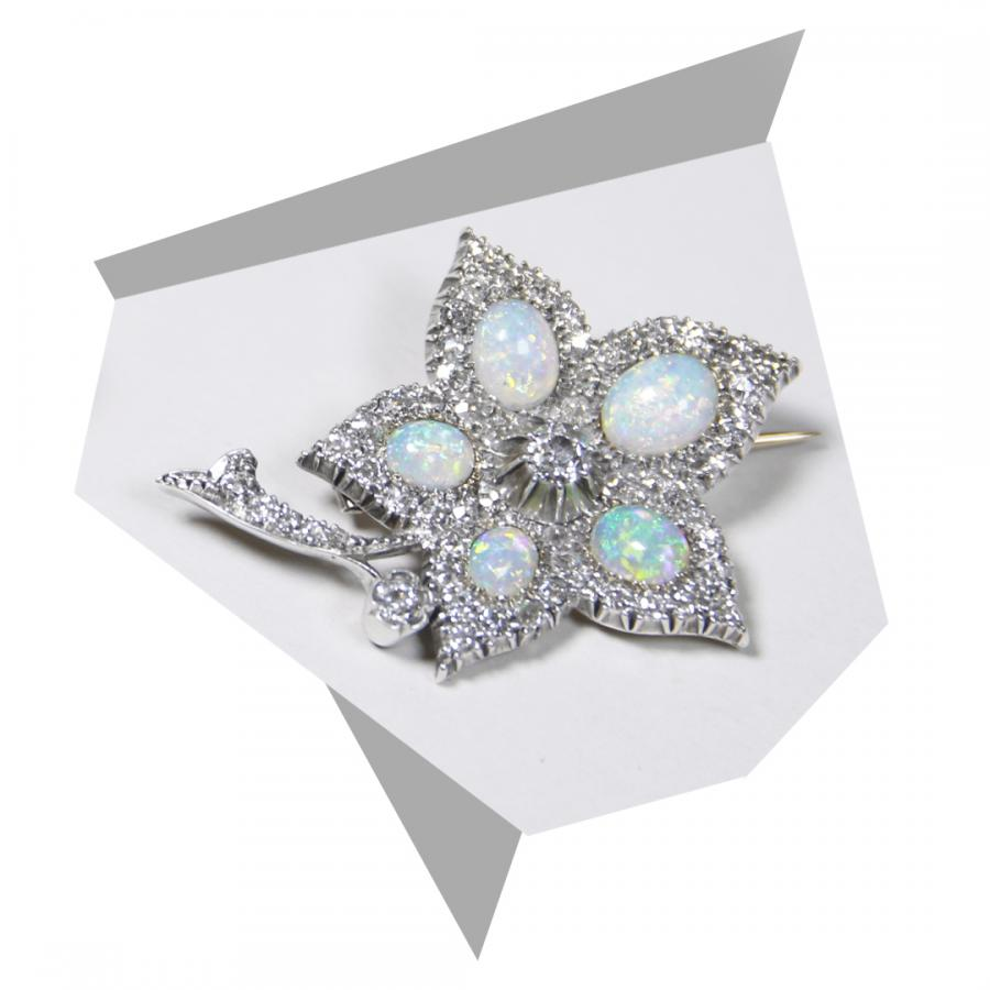 The opal flower brooch from bentley & skinner