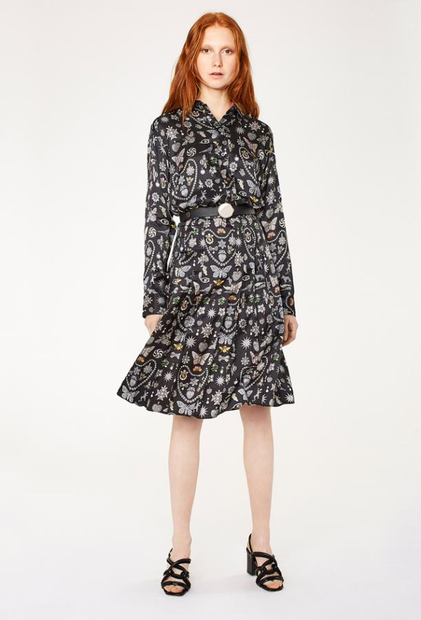 Dress featuring Bentley & Skinner silk-blend print by Paul Smith