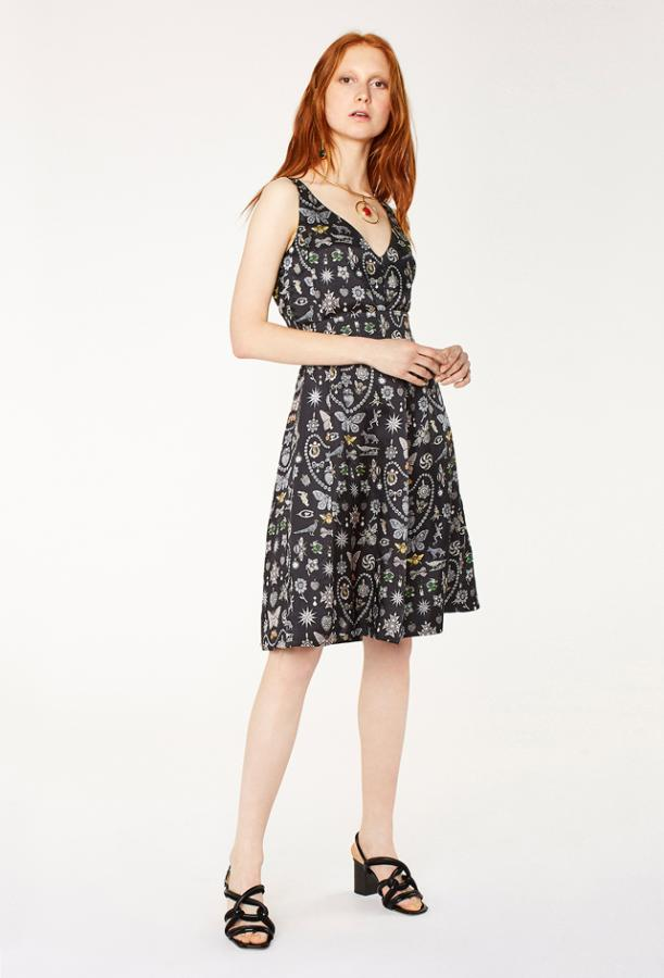 silk-blend printed dress by Paul Smith