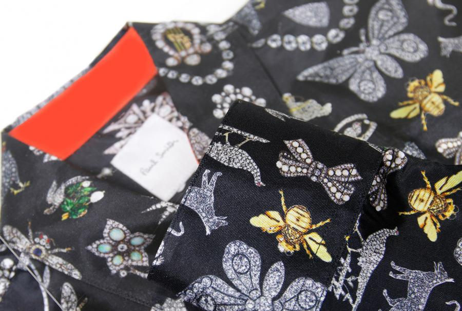 Silk collar shirt by Paul Smith with Bentley & Skinner print