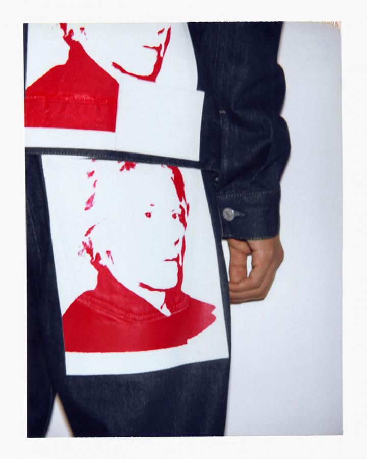 Andy warhol for Calvin Klein jeans and jacket