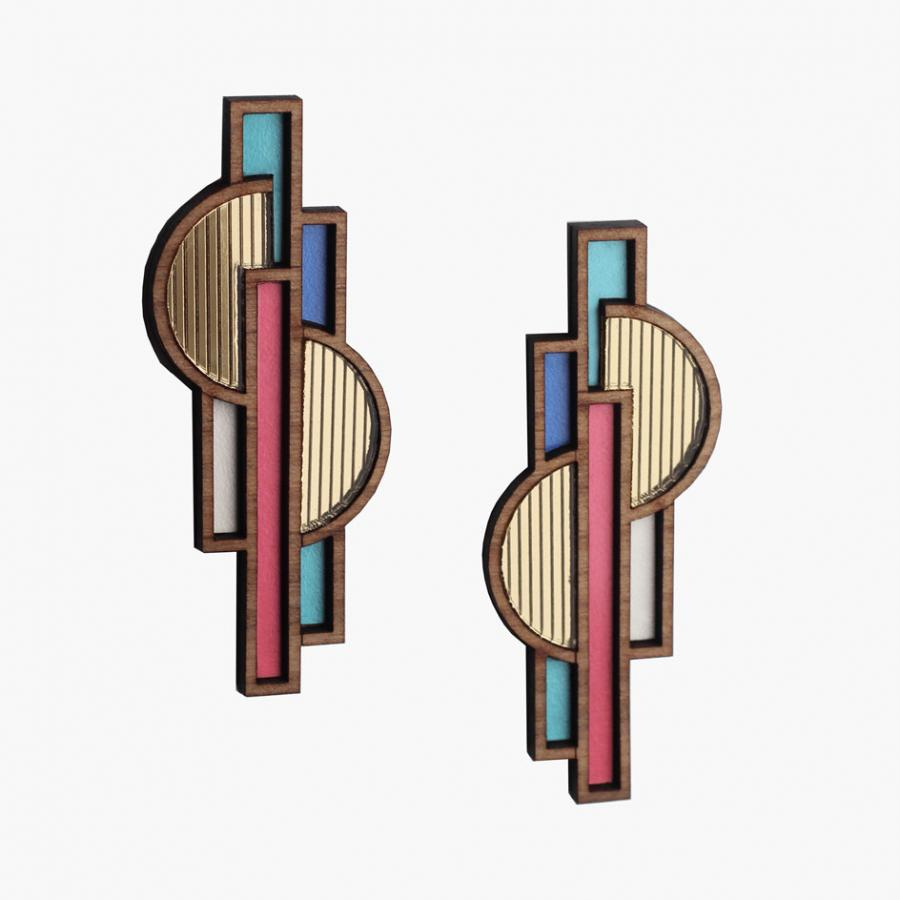 'Shaped Objects' earrings