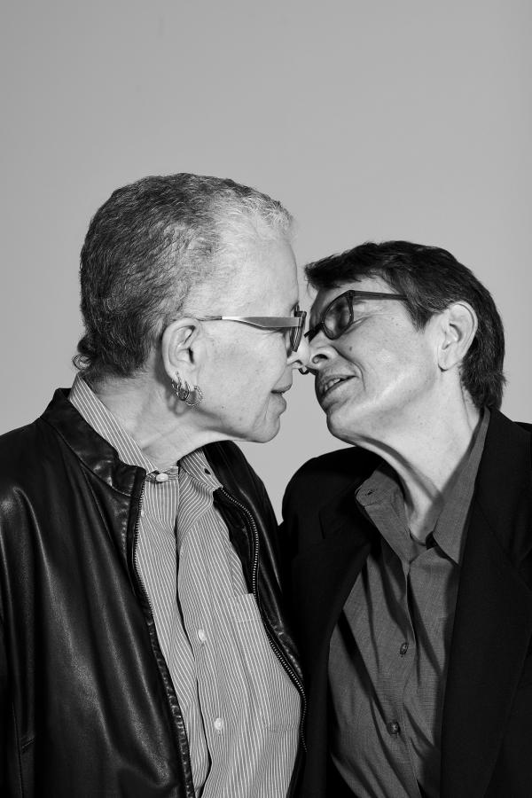 Pace University professor emerita Karla Jay with her partner, captured by Collier Schorr