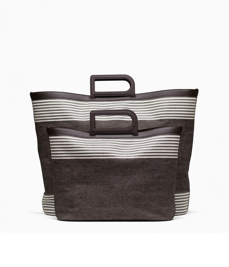 Delvaux D to D bag in ebony and ivory