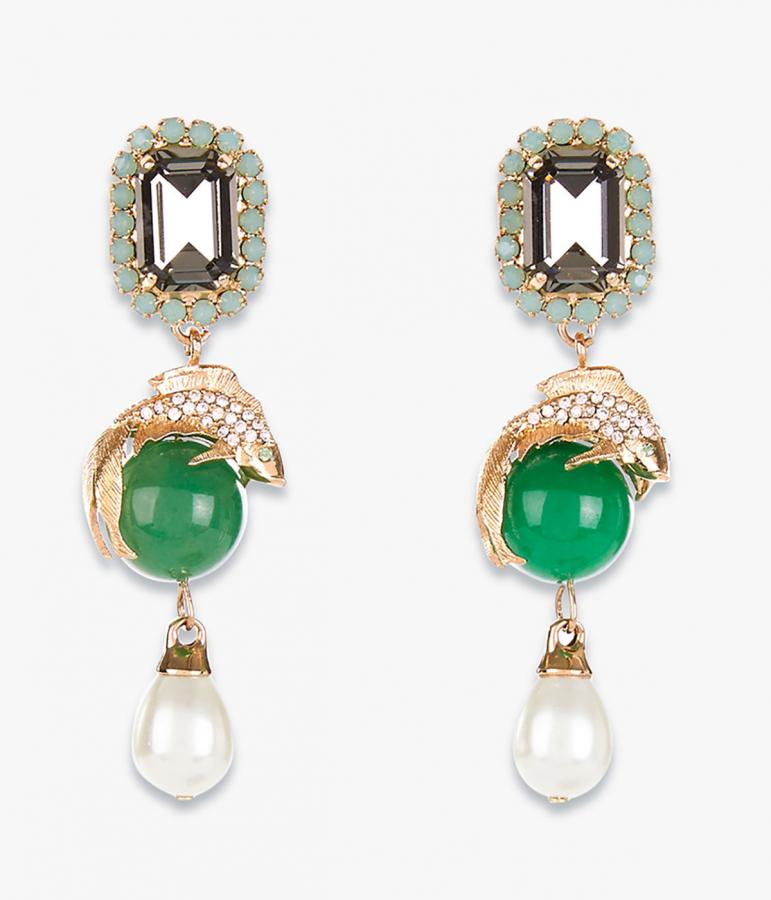 Erdem Moralioglu encrusted drop earrings