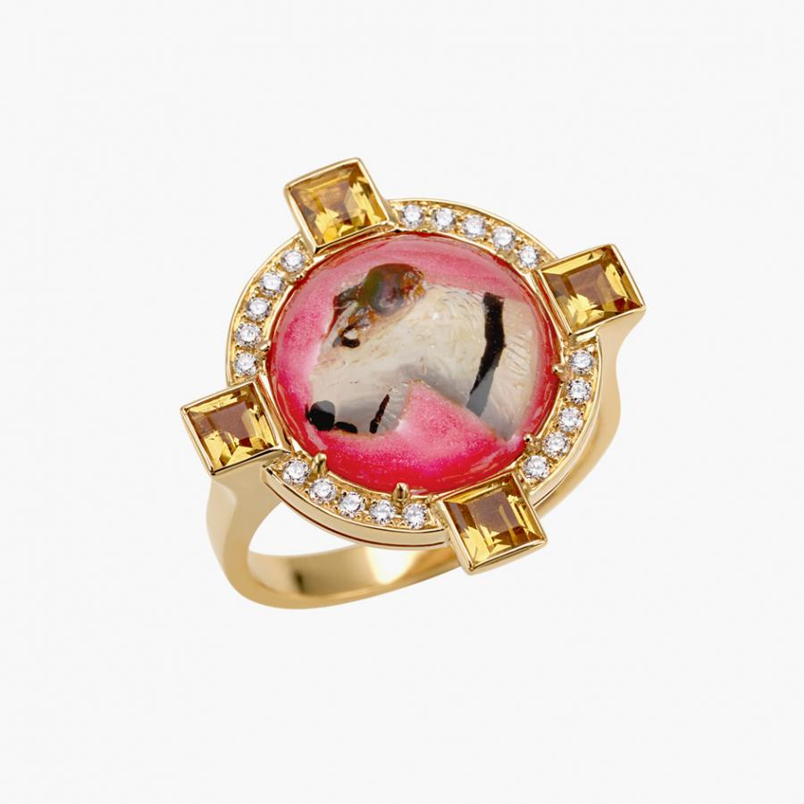 Francesca Villa, Browns Fashion, 'Woof Woof' ring