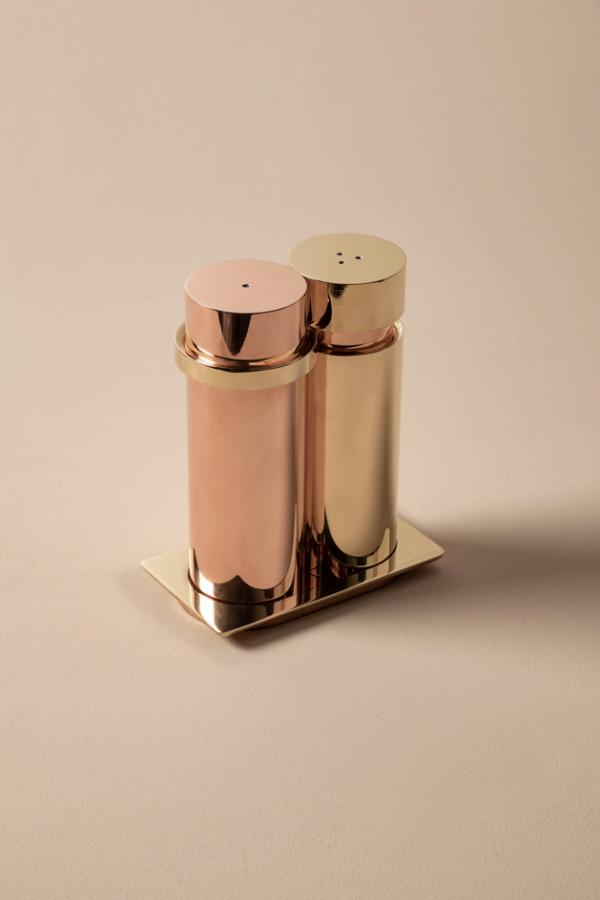 'Dialogo' salt and pepper mills by Charles Zana and Atelier François Pouenat