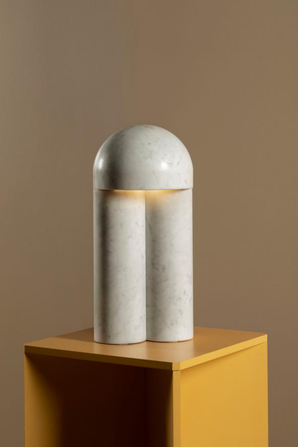 'Monolith' table lamp by Paul Matter and Van Den Weghe