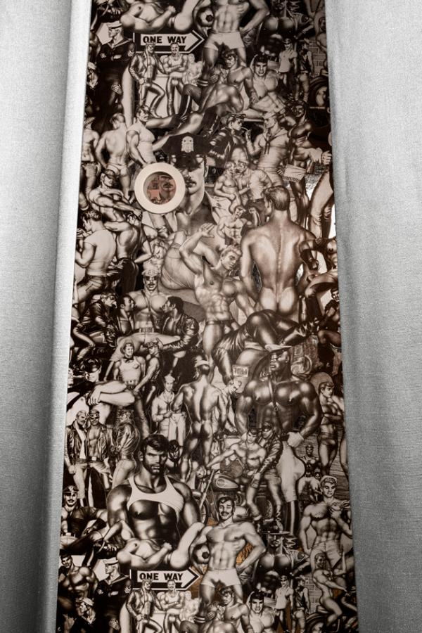 'Peep Show' wallpapers by Michael Reynolds, Hoffman Creative, Flavor Paper and Tom of Finland Foundation