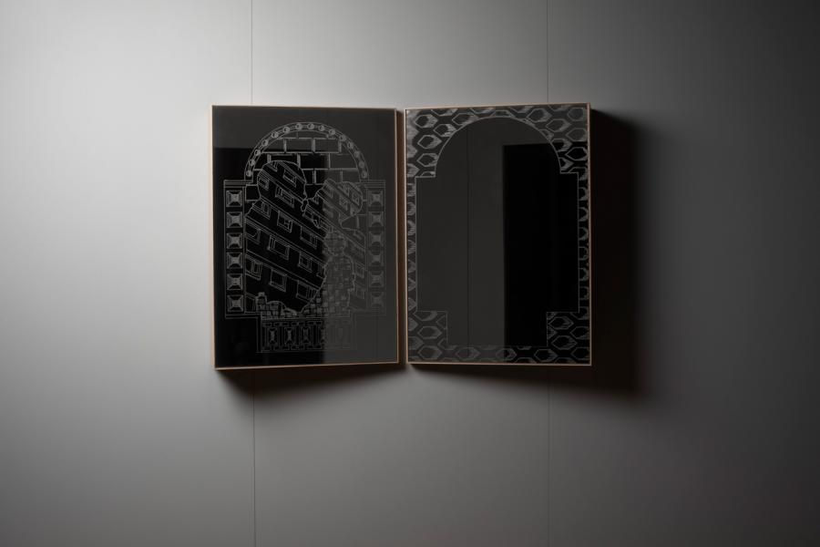 'Across the Board' mirror by Laura Lees and Another Brand