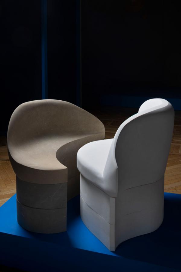 Pair of stools by Annelise Michelson and Pimar