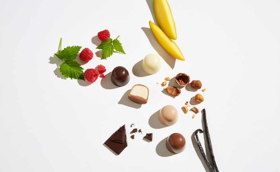 Frozen chocolate bonbons, by Pierre Marcolini