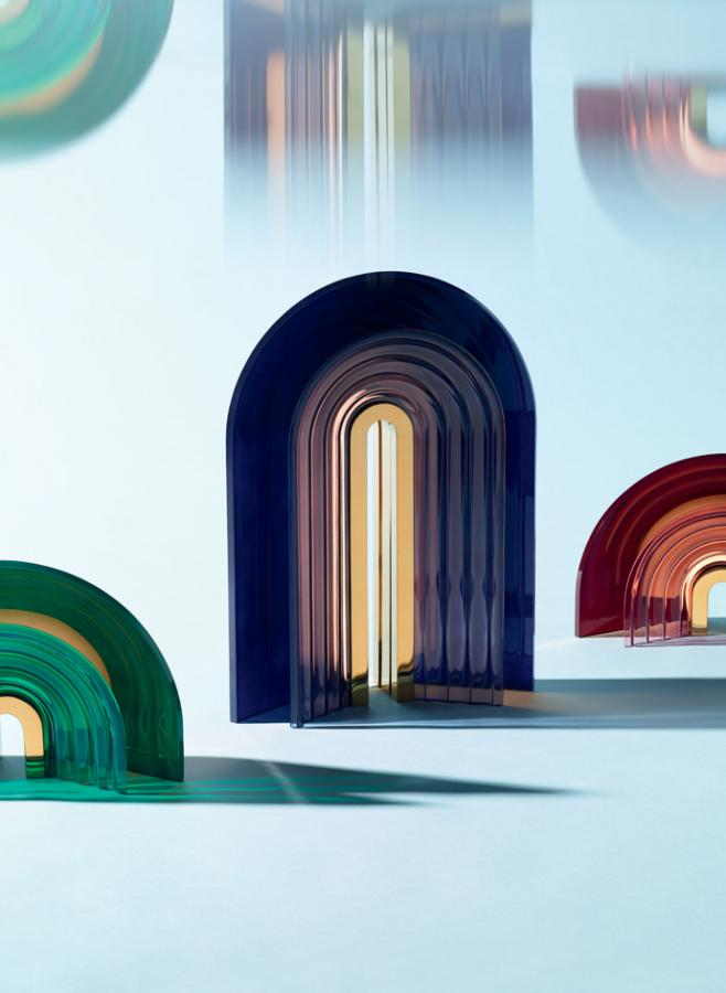 'Chromo' table lamps by Mut and Preciosa