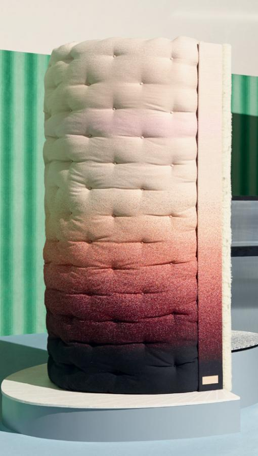 Hugging Column by Mae Engelgeer and Savoir Beds
