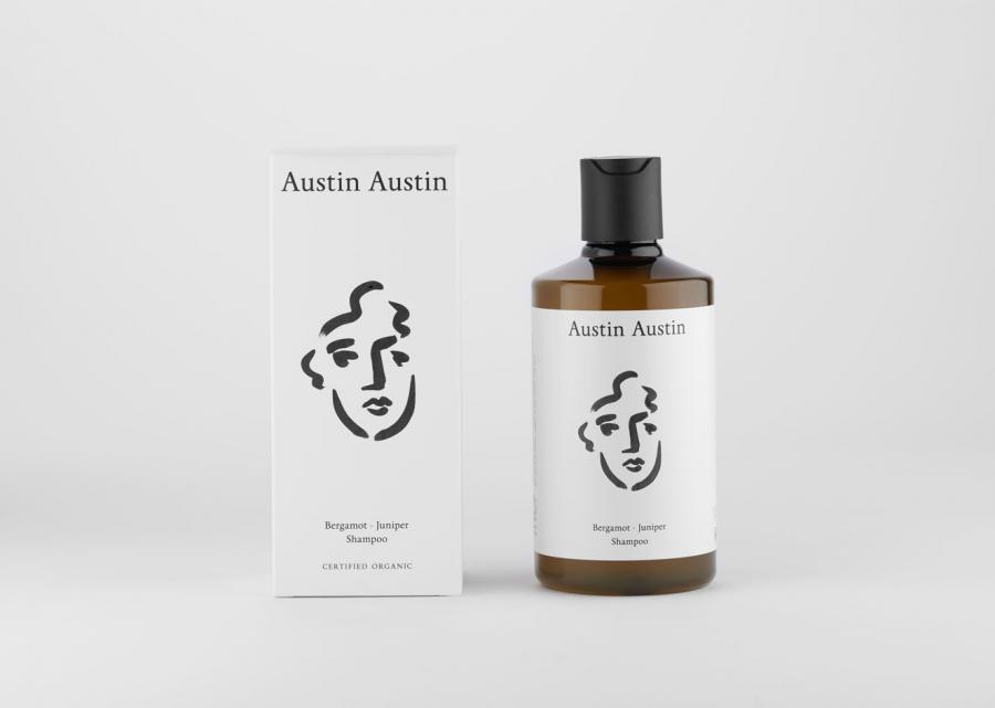 Austin Austin shampoo and packaging
