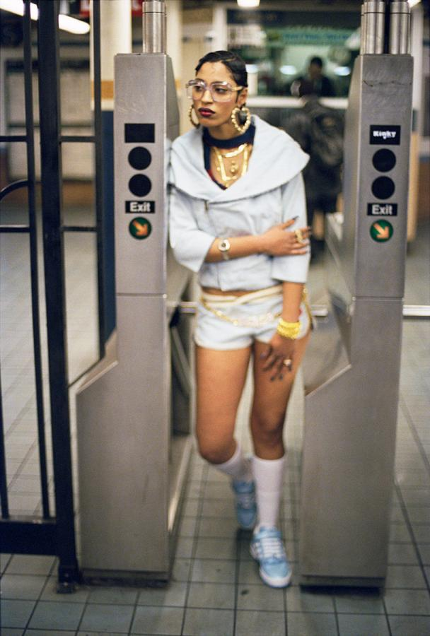 Fly Girl, SoHo, NYC, 2004, by Jamel Shabazz