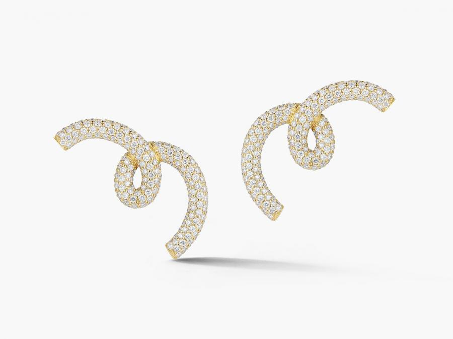 Jemma Wynne 18-ct rose gold and diamond earrings