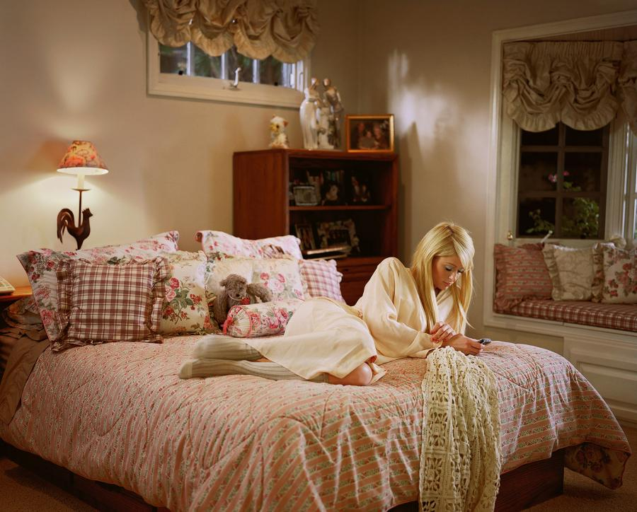 Paris Hilton on Larry Sultan's parents' bed