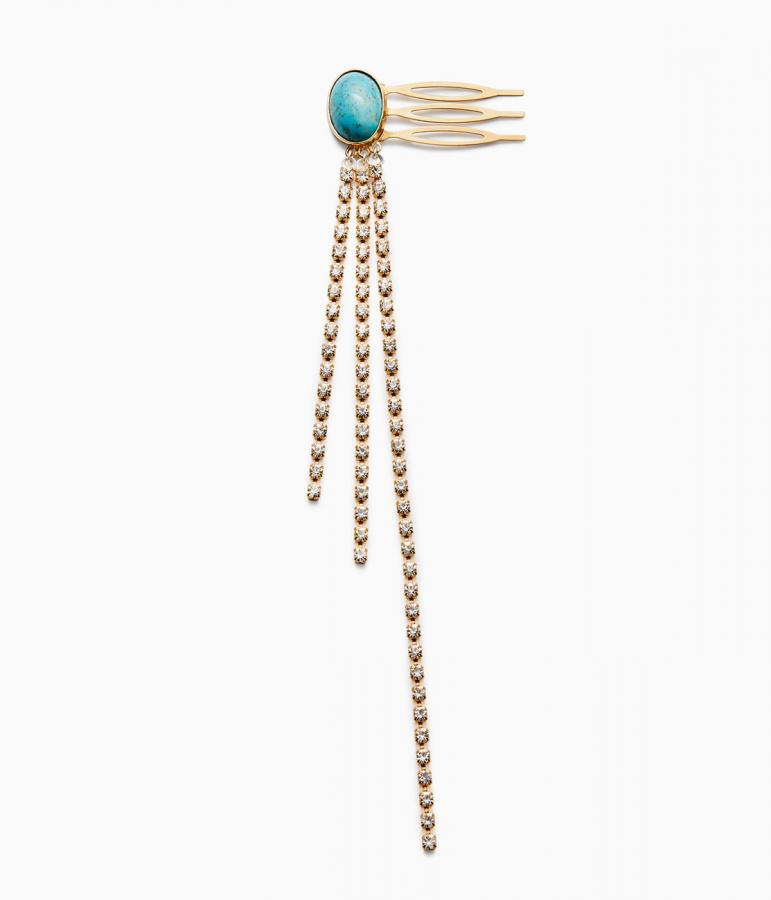 Magda Butrym Ash hair pin with crystals