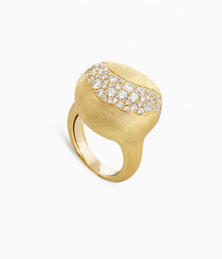 Marco Bicego ring in 18-ct hand engraved gold and diamondsFormica