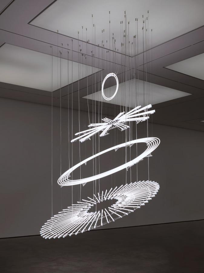 Cerith Wyn Evans artworks at Museo Rufino Tamayo, Mexico