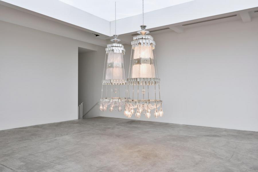 Cerith Wyn Evans artworks at Museo Rufino Tamayo, Mexico City