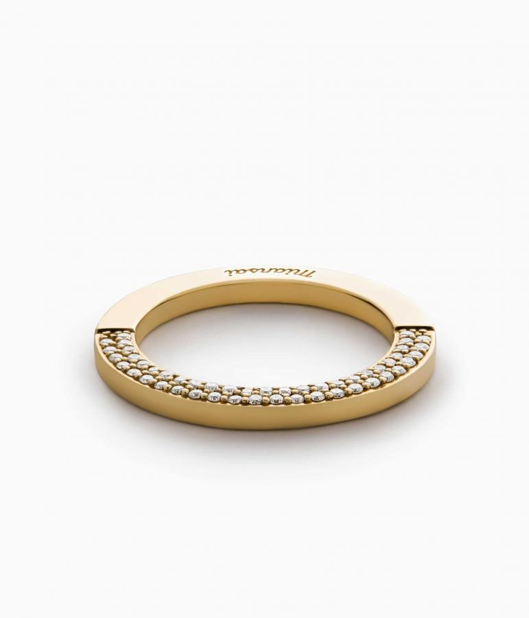 Miansai 14-ct gold Washer ring
