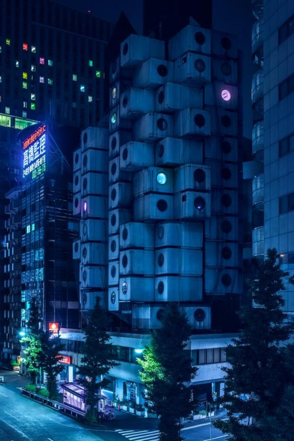 Nakagin Capsule Tower, 1972, designed by Kisho Kurokawa. Photography: Tom Blachford