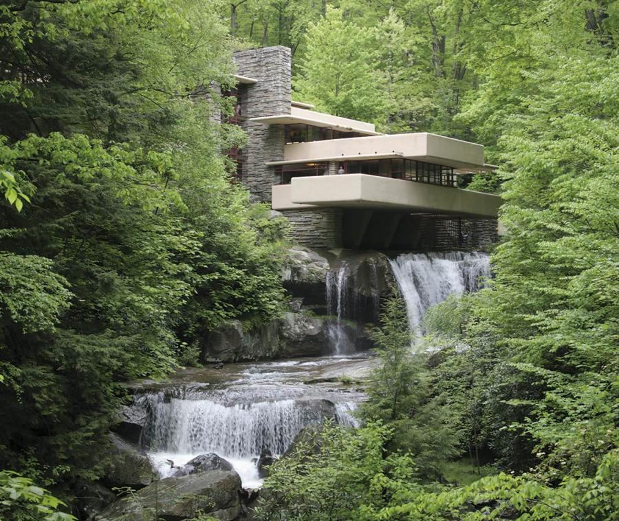 Fallingwater in Pennsylvania by Frank Lloyd Wright