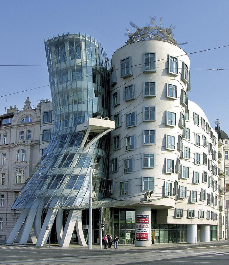 Fred and Ginger building or 'Dancing House' by Frank Gehry in Prague