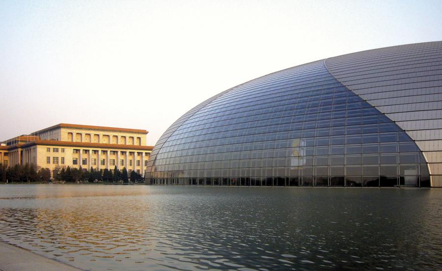 National Grand Theatre in Beijing by architect Paul Andreu