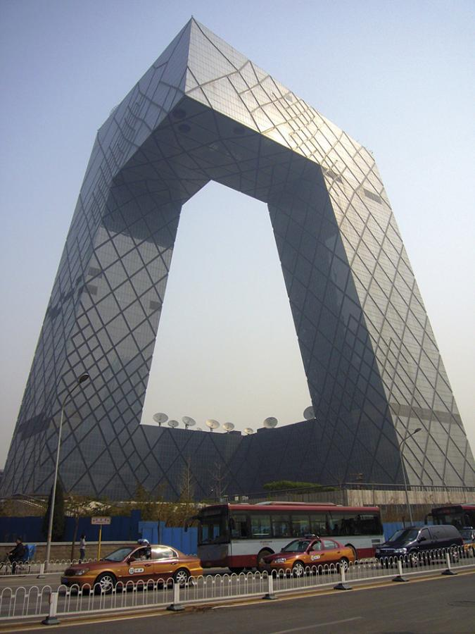 Rem Koolhaas and OMA's CCTV building in Beijing