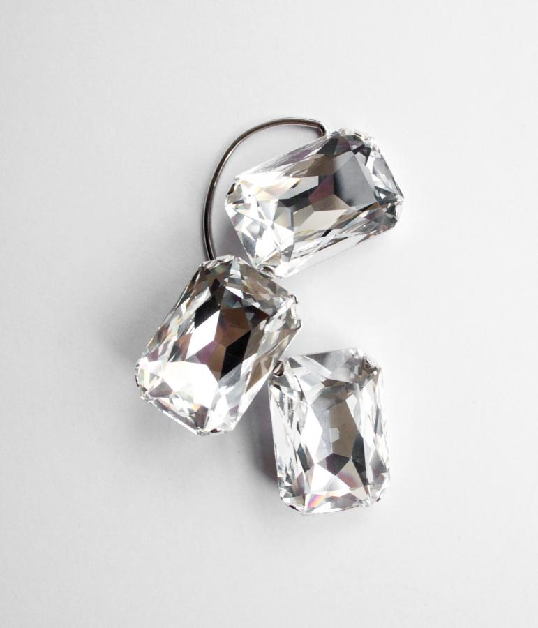 Crystal ear cuff by RÄTHEL & WOLF for Paula Knorr