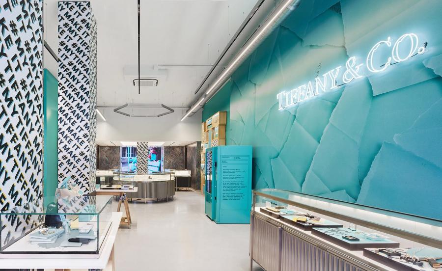 Tiffany&Co Covent garden pop-up boutique