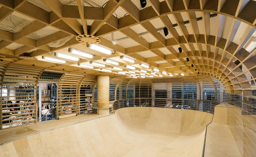 Selfridges menswear skate bowl