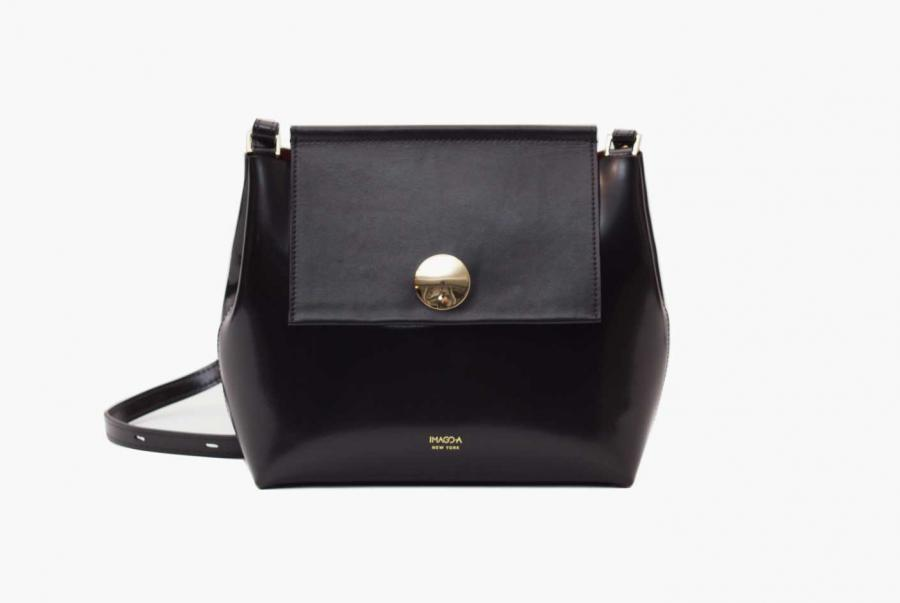 Carre Noir Leather Bag