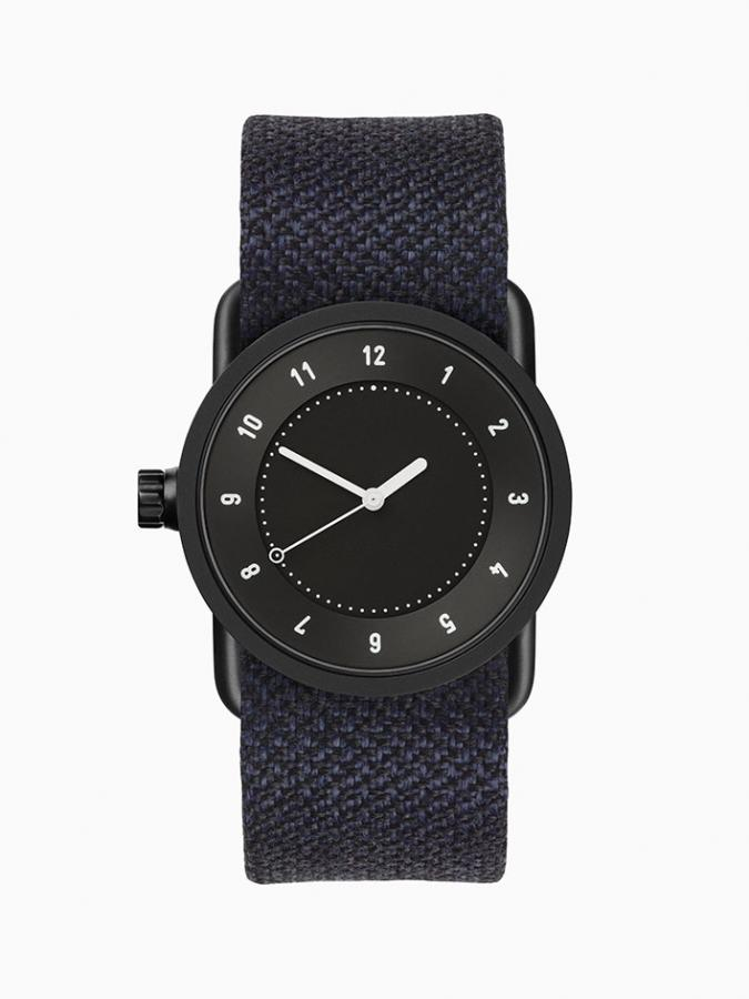 TID 33mm watch with black face and twain strap