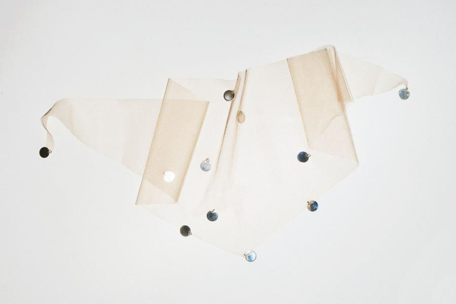 Saskia Diez, Pan and the dream, tulle neck scarf