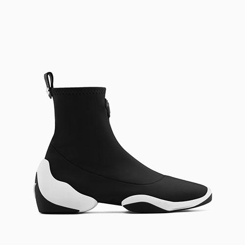 Giuseppe Zanott black neoprene high tops with a waterproof rubber sole