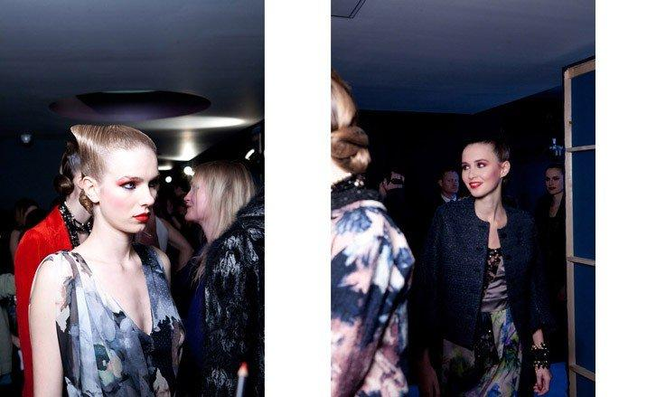 Backstage at London Fashion Week | Peonies and lilies