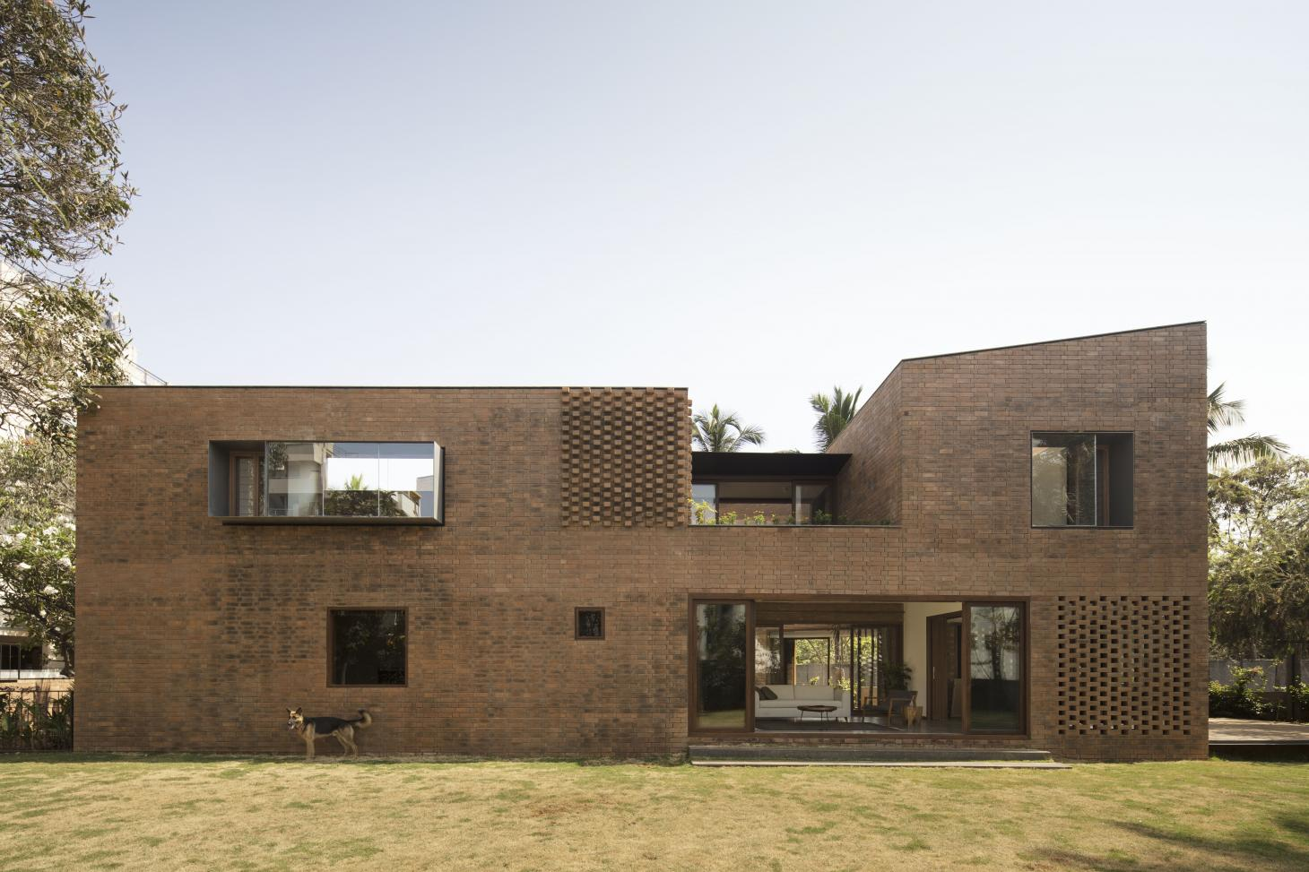 angles and geometric shapes in brick at Brick House by Collective Project
