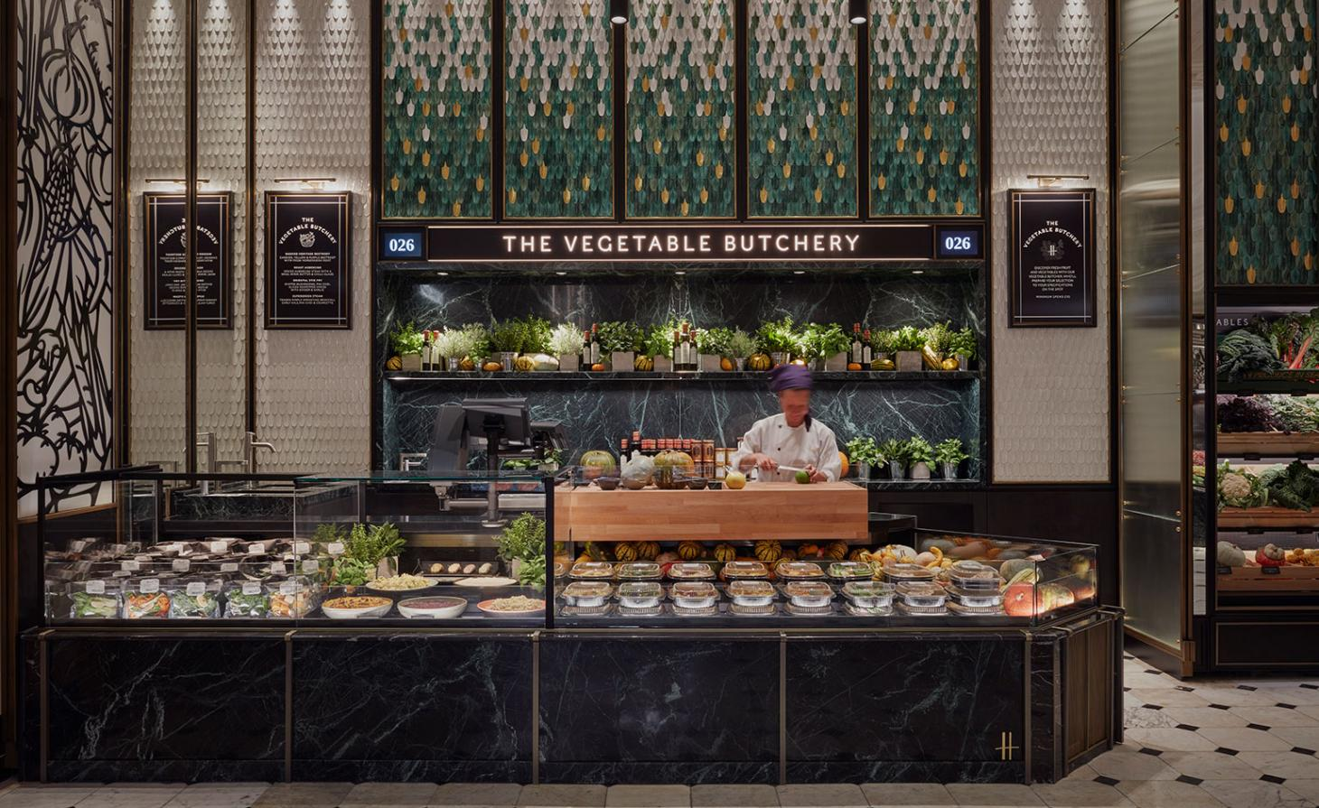Vegetable Butchery at Harrods, London