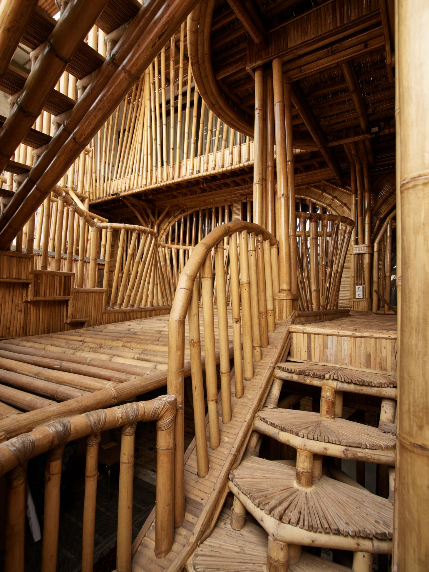 bamboo structure at RAW architecture's live/work space