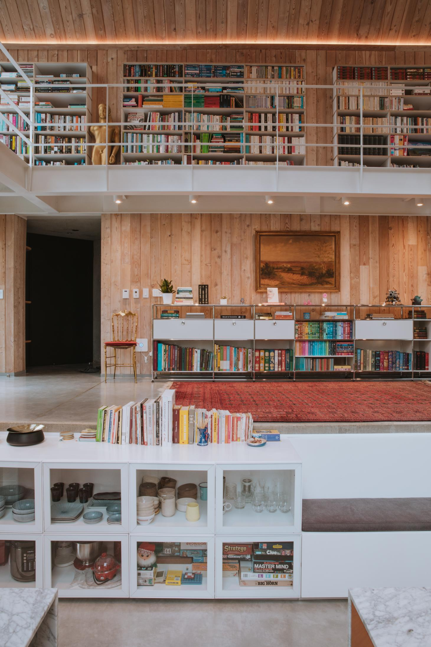 Colombian Casa SKL's extensive library structure