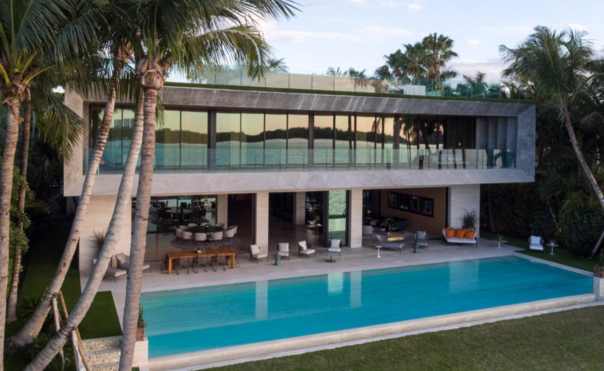 front view of house by Chad Oppenheim in Miami