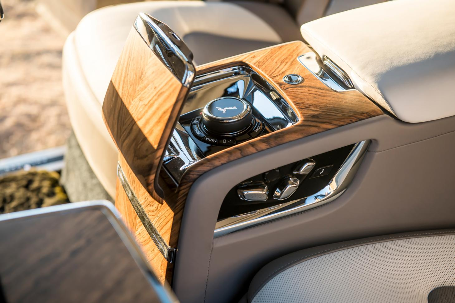 Interior design detail view of the new Rolls-Royce Cullinan SUV
