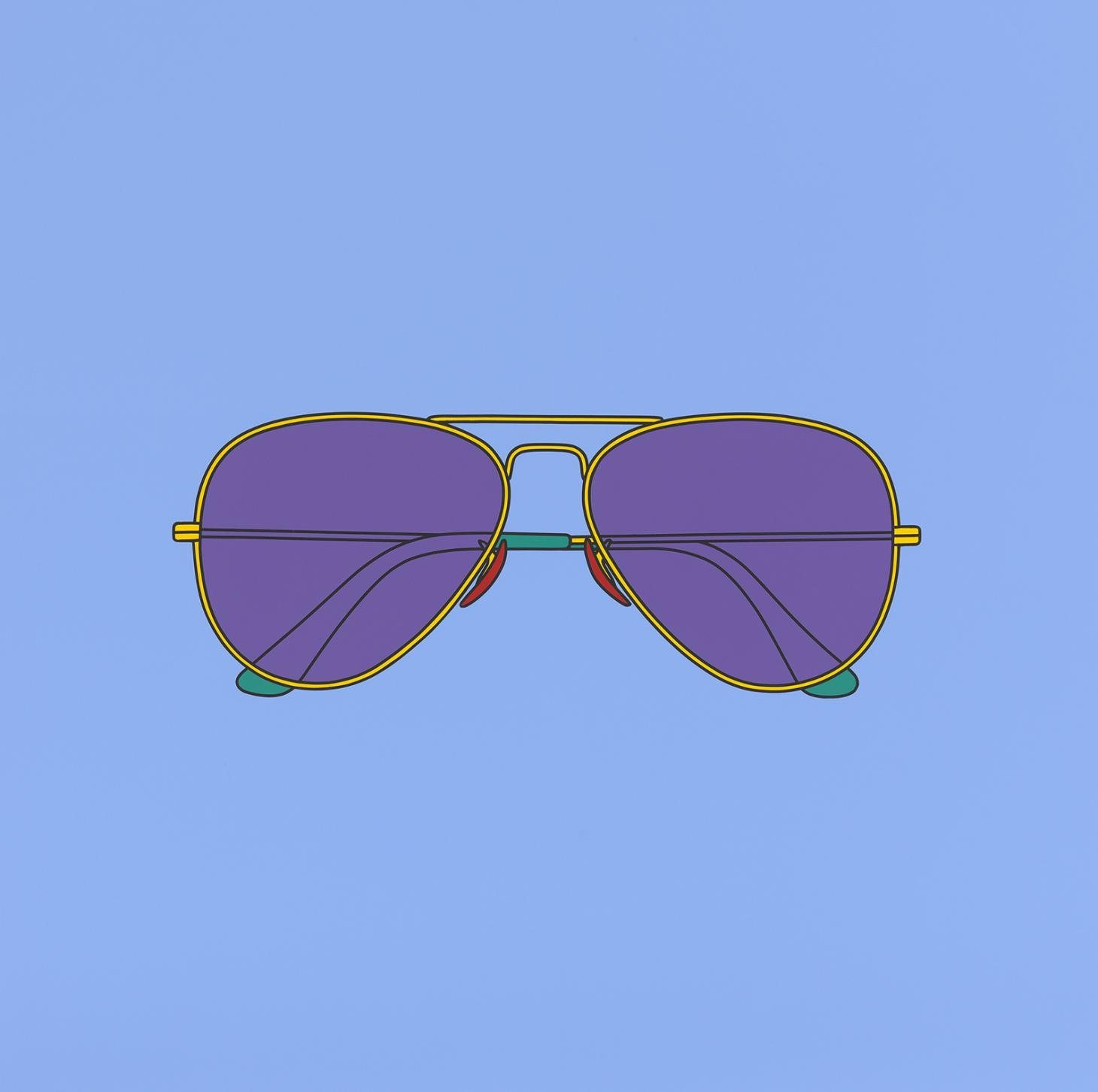 Untitled sunglasses by Michael Craig Martin, 2018